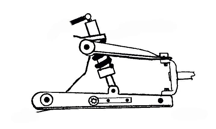 Схема установки гидро цилиндров на торсионную подвеску