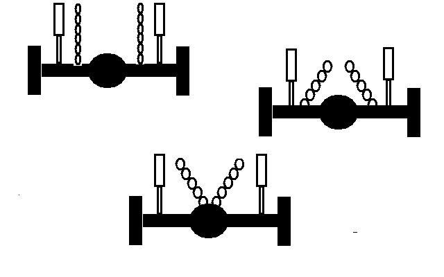 Схема расположения цепей на заднем мосту