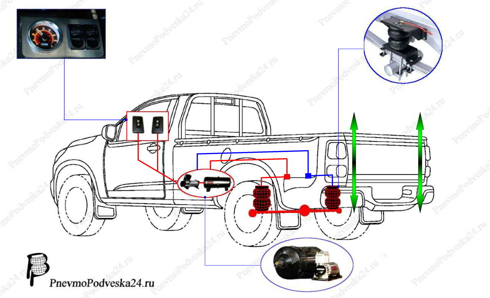 Система управление пневмо подвеской на Л200