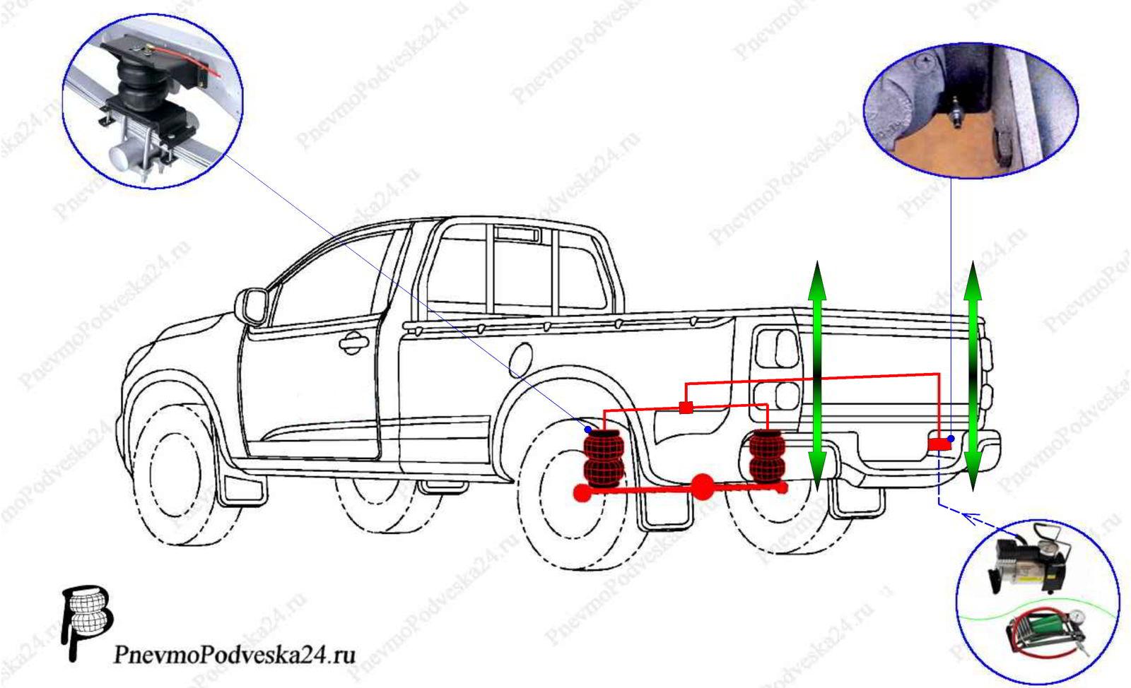 пневмоподвеска на ford ranger