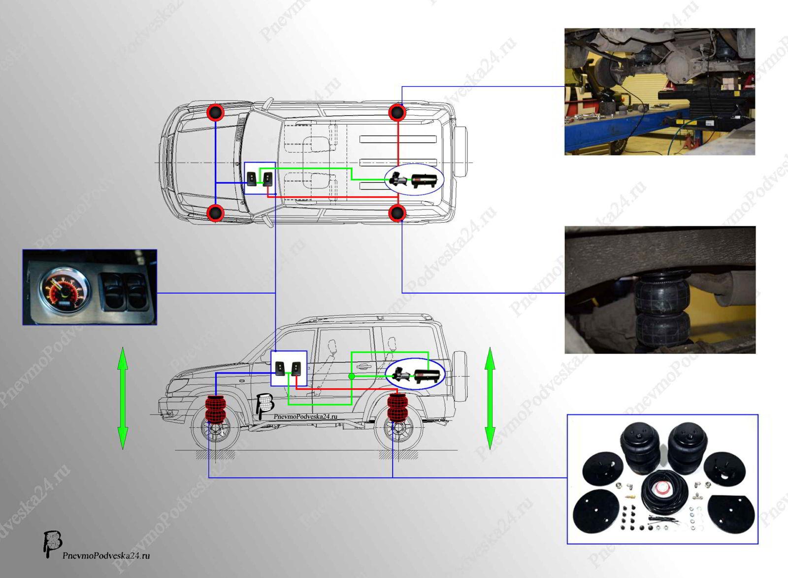 Электрическая схема уаз 33039