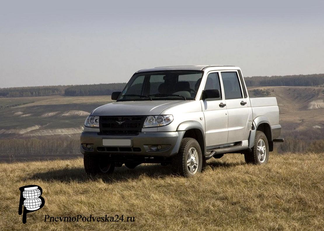 Пневмобаллоны на УАЗ Пикап (UAZ Pickup) (Передняя ось, В пружину).